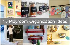A roundup of the best ideas and products to keep your playroom organized.