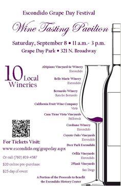 Escondido Grape Festival  Wine Tasting Pavilion  Saturday, September 8