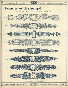catalogue qucaillmeubles p39 Filigree Tattoo, Tatoo Art, Medieval Manuscript, Scenic Design, Ornaments Design, Free Graphics, Scrapbook Paper Crafts, Architectural Elements, Vintage Images