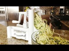 Ready to make some #zoodles? Learn how to use a spiralizer with this video by GetFitWithLeyla!