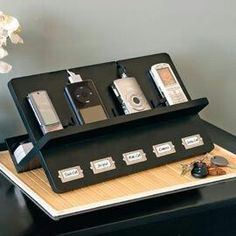 Diy Phone Stand Home Organization Organizing Electronic Charging Station