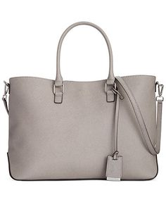 """Calvin Klein Saffiano Tote - I want this in black and """"smoke""""... very olivia pope :)"""
