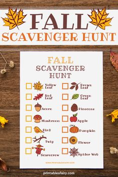 Fun Fall Scavenger Hunt for Kids Who Love the Outdoors