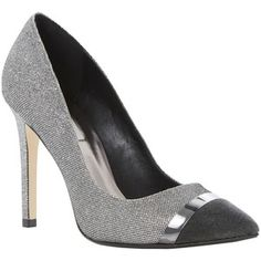 Dune Bellini Court Shoes , Pewter