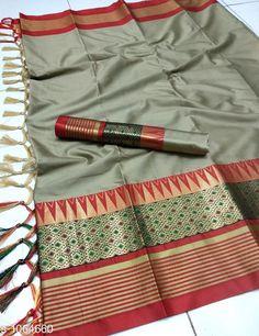 Sarees Drishya Cotton Silk Jari Saree  Fabric: Saree -  Cotton Silk Blouse - Cotton Silk Size: Saree Length - 5.5 Mtr Blouse Length - 0.8 Mtr Work :Jari  Work Country of Origin: India Sizes Available: Free Size   Catalog Rating: ★4 (500)  Catalog Name: Hrishita Drishya Cotton Silk Jari Saree CatalogID_130067 C74-SC1004 Code: 995-1064660-1551