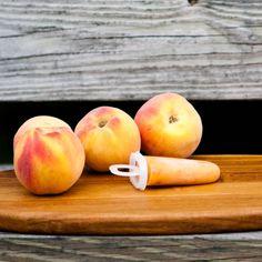 Ginger Peach Ice Pops | via teacher-chef