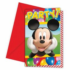6 Disney Mickey Mouse Balloons Clubhouse Party Invitations plus Envelopes #Disney https://twitter.com/BandPUSA