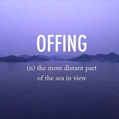 Offing | ôfíNG | early 17th century origin. #beautifulwords #wordoftheday #tongyeong #korea
