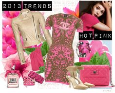 """""""2013 Spring Trends: Hot Pink"""" by kekek ❤ liked on Polyvore"""