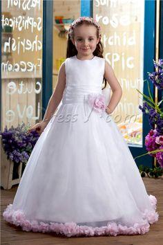 A-line Scoop Floor-Length Flower Girl Dresses - My little room. http://fredericalove.socialdoe.com/