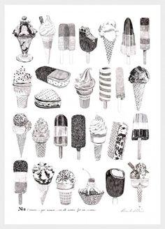 Ice creams by  Ros Shiers//