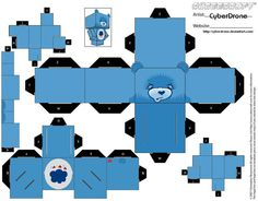Cubee - Grumpy Bear by CyberDrone.deviantart.com on @deviantART