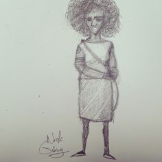 Character design sketch by Nick Gibney for untitled comic book project