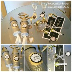 Silvester Tisch-Deko 2016 New Year's table decoration 2016 – stamping, punching and handicrafts with Stampin 'Up! New Years Eve Decorations, Party Table Decorations, Decoration Table, Balloon Decorations, New Years Eve Dinner, New Years Eve Party, Stampin Up, Deco Nouvel An, Diy Silvester