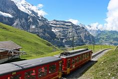 The Jungfraubahn, Switzerland https://juliatheresfeber.wordpress.com/2013/07/01/awed-by-the-bernese-oberland-trio/