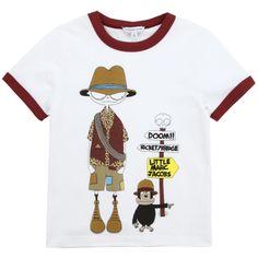 Little Marc Jacobs Tee-shirt en jersey blanc Blanc - 64447 | Melijoe.com