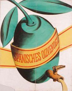 Spanish olive oil promotional poster, 1928, Joseph Binder