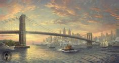 Thomas Kinkade The Spirit of New York painting is available for sale; this Thomas Kinkade The Spirit of New York art Painting is at a discount of off. Canvas Artwork, Canvas Art Prints, Sacramento, Thomas Kinkade Art, Kinkade Paintings, Oil Paintings, Thomas Kincaid, New York Painting, Art Thomas