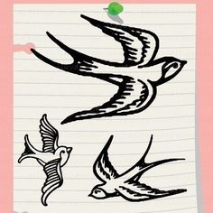 Swallow Mini Craft Stamp. Pick 1 design. Rubber Stamp. C1184.
