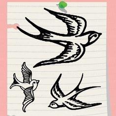Swallow Mini Craft Stamp. Pick 1 design. Rubber Stamp. C1184.