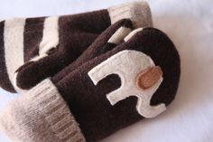 New Felted Wool Mittens for toddlers