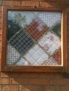 Old quilt in an even older frame