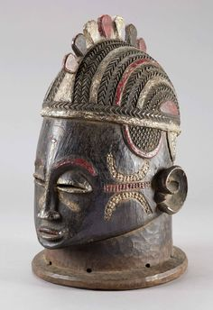 Africa | Helmet mask from the Igala people of Nigeria | Wood, polychrome paint