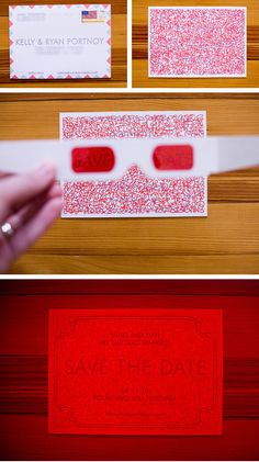 3D invitations - it lets the receiver of the invitation have fun with it, and it's not another boring invitation to a wedding.    TRENDING!