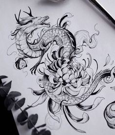 Hip Tattoos Women, Girl Arm Tattoos, Small Girl Tattoos, Leg Tattoos, Body Art Tattoos, Tatoos, Small Dragon Tattoos, Dragon Sleeve Tattoos, Japanese Dragon Tattoos