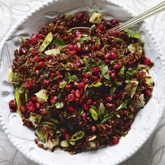 Red rice salad with cranberries and pomegranates - Woman And Home