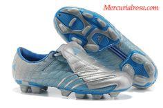 Adidas F50+ TRX FG Soccer Cleats Silver Blue Soccer Cleats