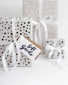 Black & White Polka Dot Gift Wrap