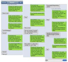 Full-on textual harassment, aggressive in its awesomeness.