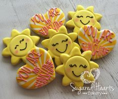You Are My Sunshine Cookies 1 Dozen by SugaredHeartsBakery