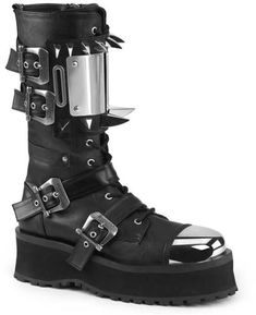 Goth Buckle Strap Ankle Boot Womens Point Toe Zipper Low Heels Plaid Print Shoes