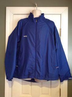 Reebok-Lightweight-Water-Repellant-Blue-Hockey-Adult-Team-Jacket-Mens-Large