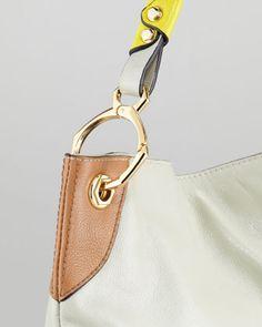 Oryany Whitney Colorblock Shoulder Bag, Multi - Neiman Marcus