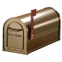 Salsbury Industries 4800 Series Post-Mount Antique Rural Mailbox-4850A-BRZ - The Home Depot