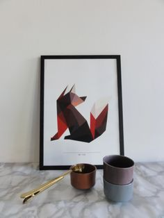 Mr Fox Giclee Print, A3  Ditte Maigaard Studio for Sønderho. www.sonderho.com Geometric Animal