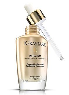 The secret to glossy hair is treating your scalp and Kerastase Initialiste contains plant stem cells and aims to nurture the skin