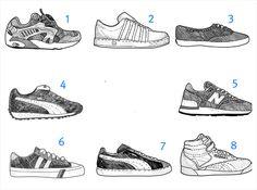 역사적인 운동화 24켤레 : timeless sneakers : 이미지 크게보기