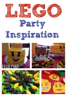 LEGO Birthday Party Ideas - Lego Cake, Lego chocolates, LEGO masks and more