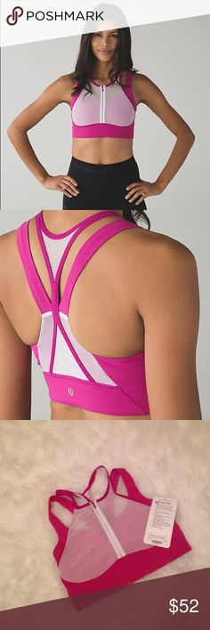 NWT Lululemon Ready Set Sweat Bra Get A Sexy Work Out In This Amazing Mesh/