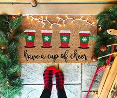 Affordable DIY Holiday Decor for Every Room Merry Little Christmas, All Things Christmas, Winter Christmas, Christmas Holidays, Christmas Decorations, Christmas Ideas, Christmas 2017, Christmas Rugs, Christmas Coffee