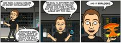 Bitstrips explained its growth to users with, yes, a comic strip.