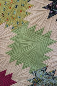Peaks and Valleys quilt by Tula Pink, quilted by Angela Walters (October 2013)