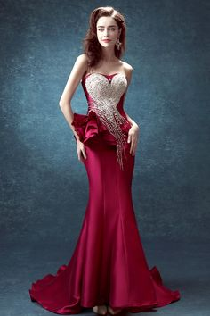 Sequin Crystal Luxury Evening Gowns Peplum Long Formal Dresses Formal  Evening Dresses 2128dd7d3210