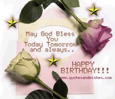 Christian Birthday Wishes For A Friend   Wishing you a blessed Birthday Beautiful animated birthday card and ...