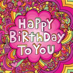 Jess Volinski- Illustration & Surface Design - Groovy - jess_happyval_front_new. Happy Birthday Video, Happy Birthday Wishes Quotes, Happy Birthday Friend, Happy Birthday Images, Happy Birthday Greetings, Birthday Love, Husband Birthday, 16th Birthday, Birthday Cards