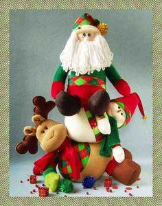 La temporada navideña 2016-2017 ya ha comenzado y aquí podrá encontrar la… Christmas Decorations, Christmas Ornaments, Holiday Decor, Reno, Reindeer, Fondant, Decoupage, Santa, Xmas